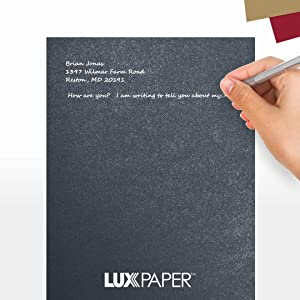 LUXPaper 8.5 x 11 Paper for Crafts and Printing in Dorian Gray Metallic - Cocktail, Scrapbook and Office Supplies, 50 Pack (Dark Gray) (Color: Dorian Gray Metallic - Cocktail?, Tamaño: 50 Qty.)