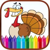 Thanksgiving Finger Paint Coloring Book Game for Kids