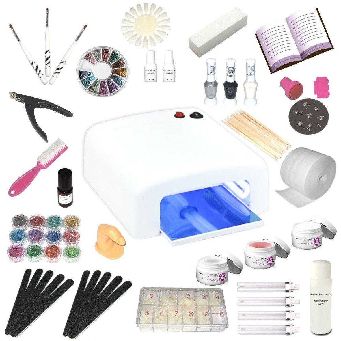 UV-Gel XXXL Set, 4 Röhren Gerät, Nails,