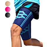 Thigh Support Compression Sleeve  Cobalt Blue Size Small