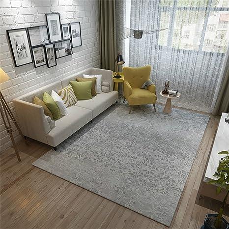 Alfombra de diseño Salón Dormitorio Dormitorio Moderno moderno Mesa de centro nórdico Alfombra gris ( Tamaño : 140*200cm )