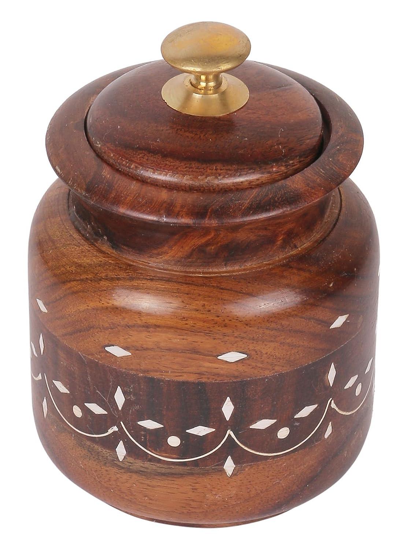 Craft Art India Wooden Storage Jar