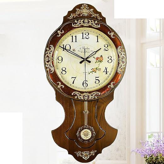orologio da parete stile antico europeo/Mute l'orologio di legno solido di salotto/Orologio moderno creativo semplice-C 16pollice