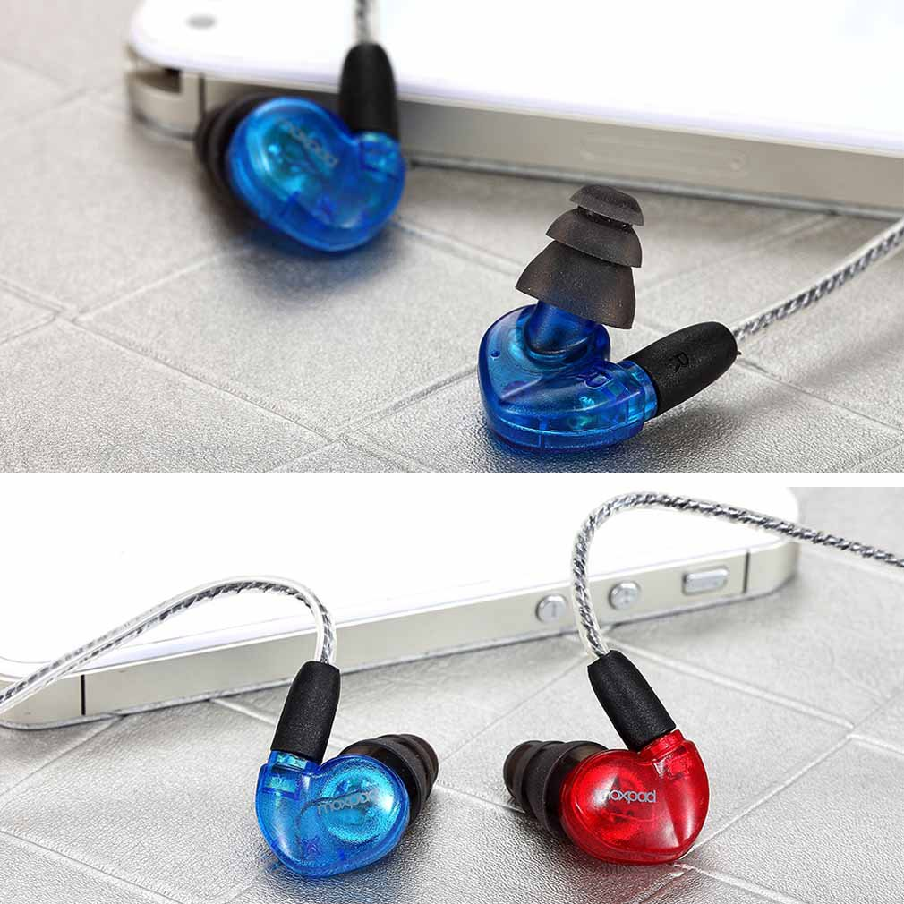 GranVela X3 Sound Isolating Earphones with Single Dynamic MicroDriver Sport HIFI In-Ear Headphones with Memory Wire and Inline Microphone and Detachable Cables with for iPhone 6, 6 Plus, 5S, 5C, 5, 4S, 4 / iPad 4, 3, 2, 1, Mini, Air (Retina Display model wallytech honeybee 2 metallic in ear earphones with mic volume control noise isolating earphone for iphone 6s 6 plus 5 5s 5c