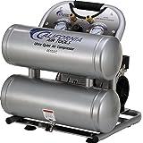 California Air Tools CAT-4610AC Ultra Quiet & Oil-Free 1.0 hp 4.6 gallon Aluminum Twin Tank Electric Portable Air Compressor, Silver (Color: Silver, Tamaño: Aluminum Twin Tank)