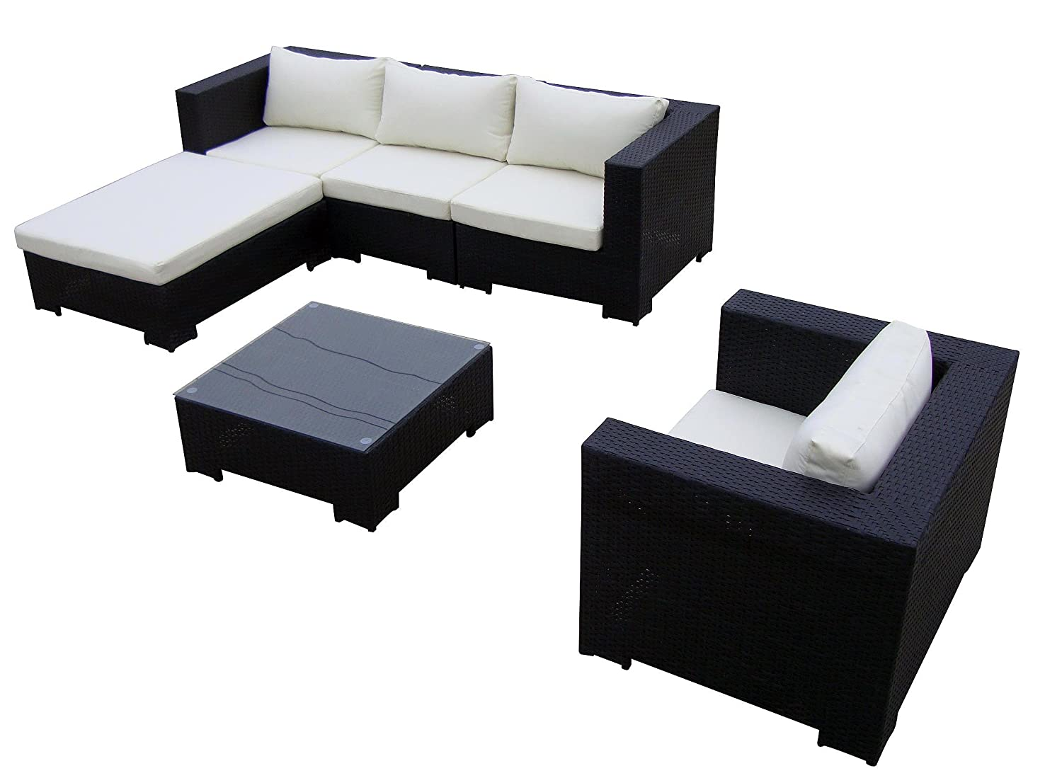 baidani sitzgruppe daydreamer rattan 4 teilig schwarz g nstig bestellen. Black Bedroom Furniture Sets. Home Design Ideas