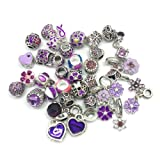 YIQIFLY 40pcs Jewelry Making Charms Rhinesotone Beads Assorted Colors and Styles Randomly (08) (Color: 08)
