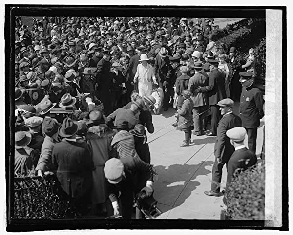 Mr. Coolidge with children, Easter Monday