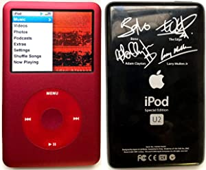 M-Player iPod Classic Special Red Upgraded 1TB = 1000GB with U2 Back Cover (Packaged in White Box with Generic Accessories)