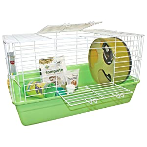 Exotic Nutrition Hedgehog Habitat - Complete Set Up Package for Pet Hedgehog - Includes Cage, Exercise Wheel, Healthy Food & Treat, Food Dish, Water Bottle & Play Tunnel