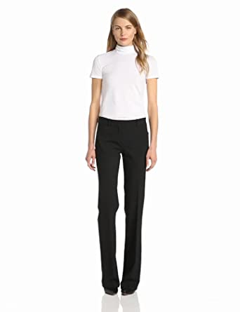Theory Women's Elisabeth Stay Short Sleeve Mockneck Top, White, Small