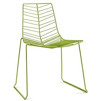 Leaf Stackable Chair green/steel/H x W x D: 82 x 60 x 57cm