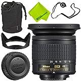 Nikon AF-P DX NIKKOR 10-20mm f/4.5-5.6G VR Lens + 72mm UV Filter + Fibercloth + Lens Capkeeper 70 inch Monopod Deluxe Cleaning Kit Bundle (Color: 10-20MM, Tamaño: Base)