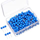 500 Pack Map Push Pins Map Tacks Small Size (Blue, 1/8 Inch) (Color: Blue, Tamaño: 1/ 8 Inch)