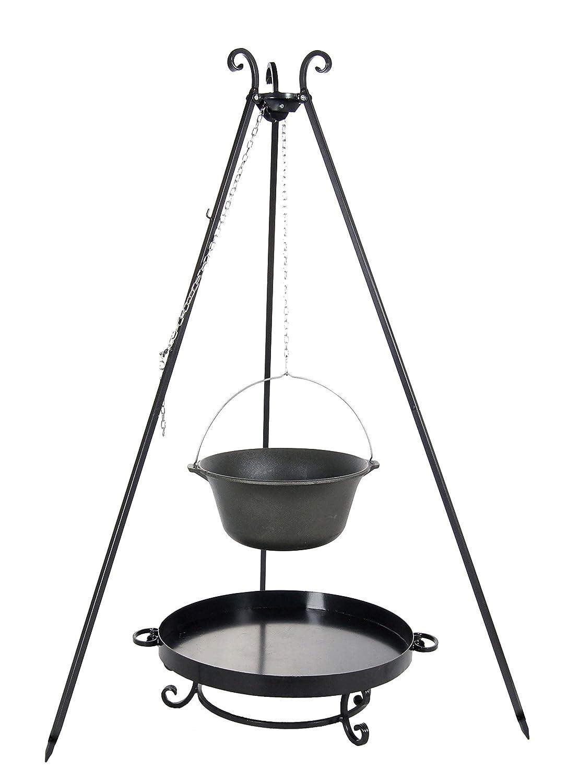 Belladecora® Gulaschkessel-Set mit Kessel aus Gusseisen 7.2 L, Feuerschale 60 cm und Dreibein 180 cm günstig