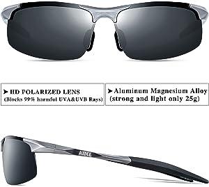 81458217aa ATTCL Men s HOT Fashion Driving Polarized Sunglasses for Men Al-Mg Metal  Frame Ultra Light ...