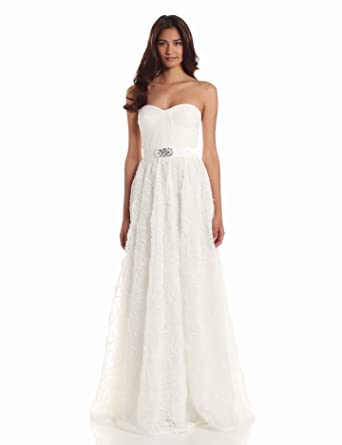 Adrianna Papell Women's Draped Embellished Tulle Dress, Ivory, 10