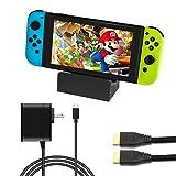 J&TOP Portable Dock Set for Nintendo Switch (Color: black)