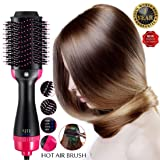 One Step Hair Dryer Volumizer Styler, Hair Dryer Brush,Hair Brush Straightener 2-in-1 Negative Ion Straightening Brush,Salon Hot Air Reduce Frizz and Static Design Styling Tools & Appliances- Black (Color: Hot Air Brush)