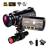 4K WiFi Full Spectrum Camcorders, Ultra HD Infrared Night Vision Paranormal Investigation Video Camera with 60fps 24MP 30X Digital Zoom - Ghost Hunting Camera(with 2 Batteries, 32GB SD Card Included) (Tamaño: KK18)