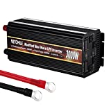 VETOMILE 3000W Power Inverter Modified Sine Wave UPS Peak 6000W 12V DC to 110V AC Converter with USB Port 4 AC Output Sockets Built-In Fuse Protection (Tamaño: 3000W)