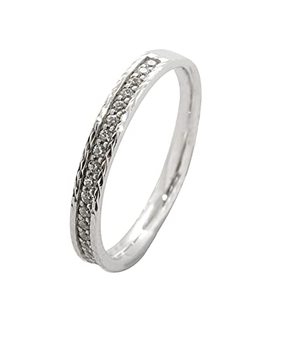 Wedding Ring, 18 Carat White Gold Diamond 0.2 cts 7BDS81323WD