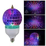 Lámpara LED giratoria TSSS®  E27 RGB con iluminación de colores