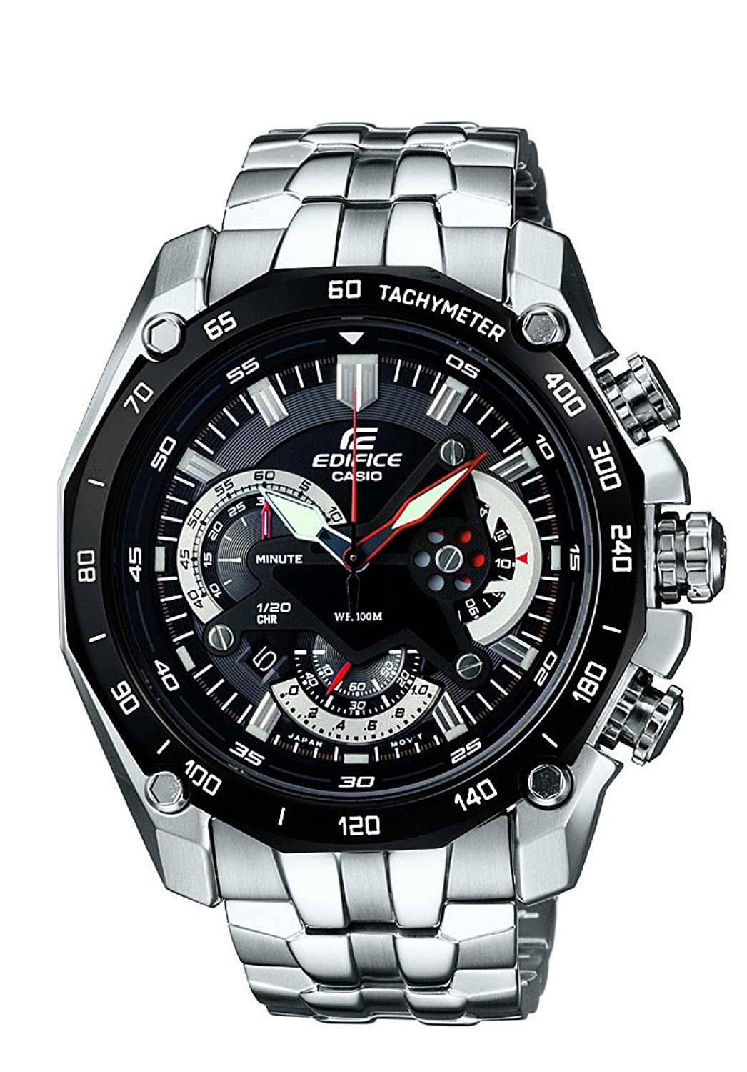 buy casio edifice tachymeter chronograph black dial men s watch buy casio edifice tachymeter chronograph black dial men s watch ef 550d 1avdf ed390 online at low prices in amazon in