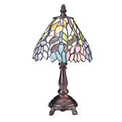 Meyda Tiffany Wisteria Stained Glass Mini Lamp