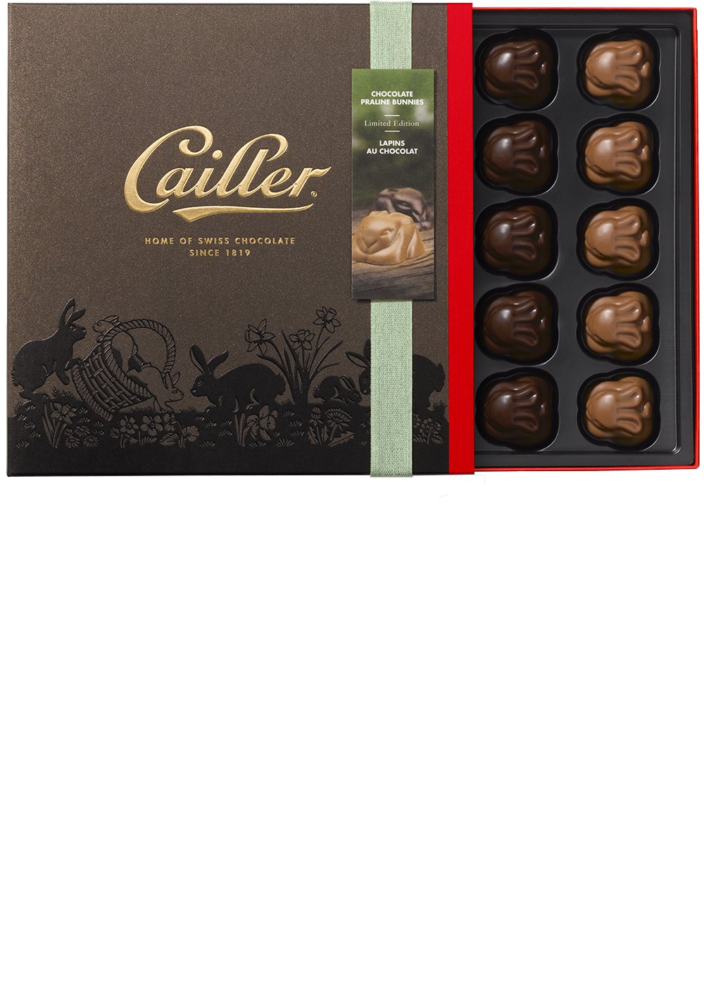 CAILLER Praline Bunnies Chocolate Assortment, 4.8 Ounce