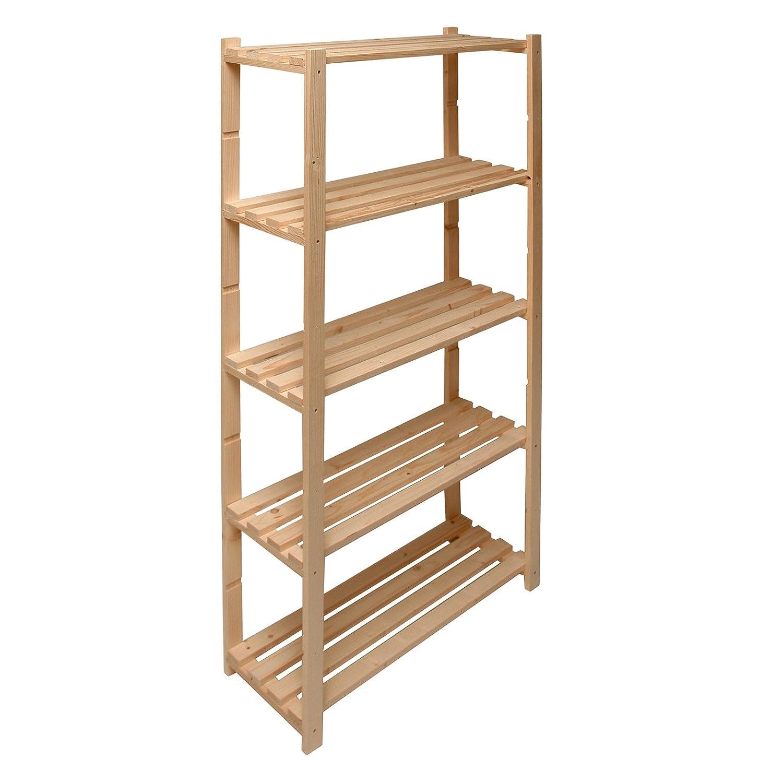 Hergestellt für DEMA Holz Regal mit 5