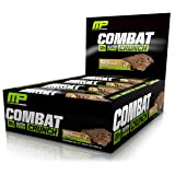MusclePharm Combat Crunch Protein Bar, Multi-Layered Baked Bar, 20g Protein, Low Sugar, Low Carb, Gluten Free, Chocolate Peanut Butter Cup, 12 Bars (Color: Brown, Tamaño: 12 Bars)