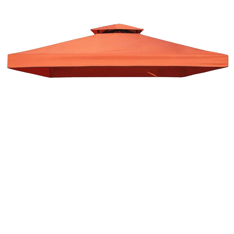 Greemotion Ersatz-Dachbezug für Pavillon Livorno, PA beschichtet, wasserabweisend, UV-Schutz, Rot, ca. 300 x 300 cm günstig kaufen
