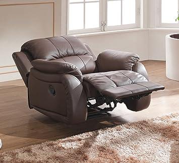 Leder Schlafsessel Relaxsessel Fernsehsessel Schlaffunktion 5129-1-377