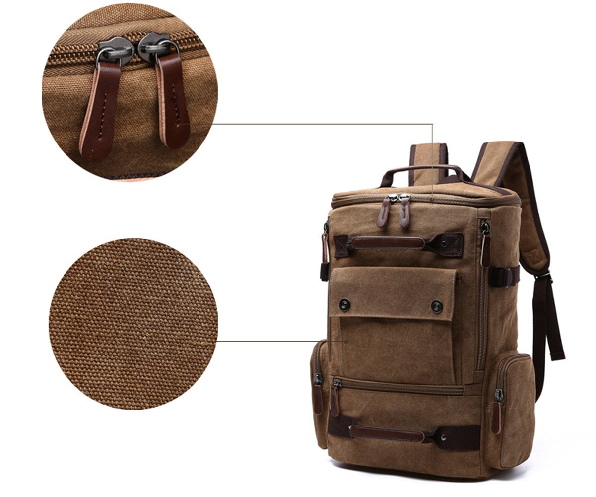 Aidonger Unisex Vintage Canvas Backpack Laptop Backpack 2