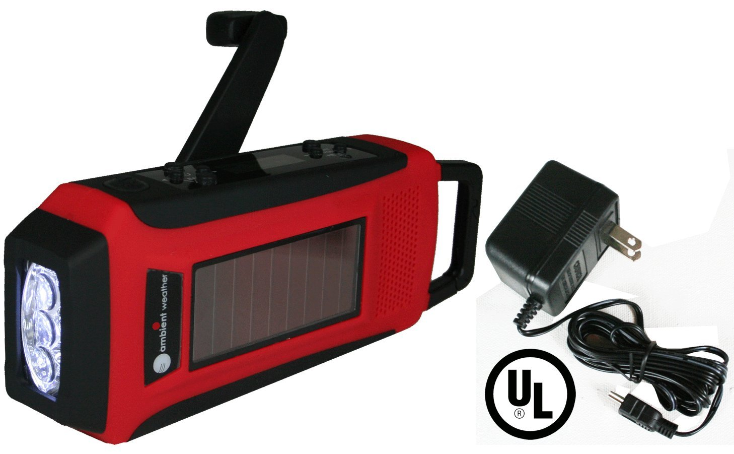 Solar Hand Crank Weather Alert Radio, Flashlight, Smart Phone Charger