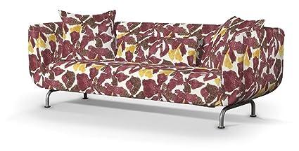 Dekoria Fire Retarding IKEA STROMSTAD 3er Sofa Cover–Gelb/Braun/Burgund Blumen