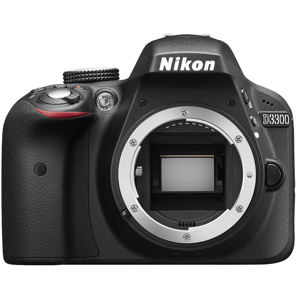 Nikon D3300 Digital SLR Camera Body (Black) - (Certified Refurbished)
