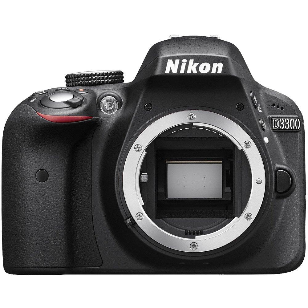 Nikon D3300 Digital SLR Camera Body (Black) - (Certified Refurbished)