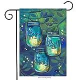 Be A Light Spring Garden Flag Inspirational Candles 12.5