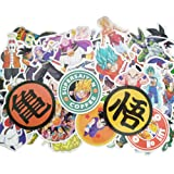 Dragon Ball Z Laptop Stickers 100Pcs Anime Waterproof Stickers for Skateboard Luggage Helmet Guitar