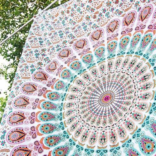 rosa-pfau-federn-design-auffallend-tapisserie-indischen-hippie-wandteppiche-m