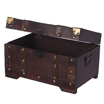 truhe hs 130524 truhe holztruhe schatzkiste kiste. Black Bedroom Furniture Sets. Home Design Ideas