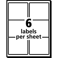 Avery® White Shipping Labels for Laser Printers with  TrueBlock(TM) Technology, 3-1/3 inches x 4 inches, Pack of 150 (5264)