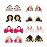 Sufermee 16 Pcs Baby Girls Cat Ear Hair Bows Clips Rabbit Ear Hair Barrettes Hair Accessories for Toddlers Girls Teens Kids (Color: 16 Pcs Hair Bows Clips, Tamaño: Medium)