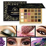 Beauty Glazed Shimmer and Matte Eye Makeup Palettes Eyeshadow 30 Colors Blendable Ultra Pigmented Eyeshadow Smokey Eyes with Make up Brushes Set (Color: 30 colors)