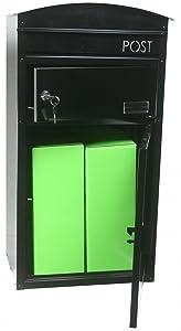 SafePost ScanPro 48  Paketbriefkasten  schwarz  Paketfach  Wandbriefkasten  Briefkasten  900110   Bewertungen und Beschreibung
