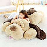 MaoGoLan Giant Stuffed Puppy Dog Big Plush Extra Large Stuffed Animals Soft Plush Dog Pillow Big Plush Toy for Girls Kids 51 inch (Color: Brown, Tamaño: 51 inch)