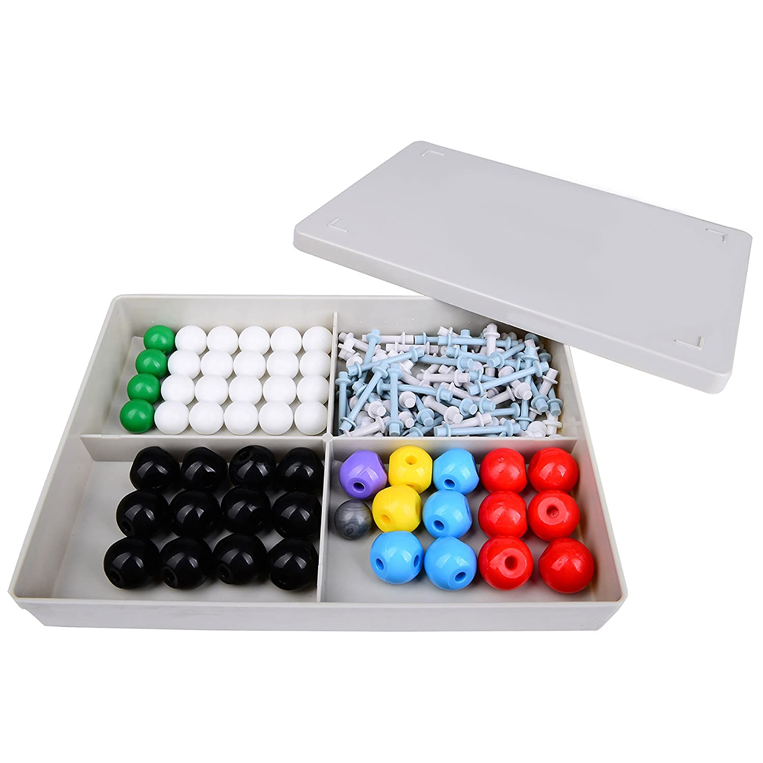 Wisehands Organic Chemistry Molecular Model, Student and Teacher Set (50 Atom Parts) with Grey Box