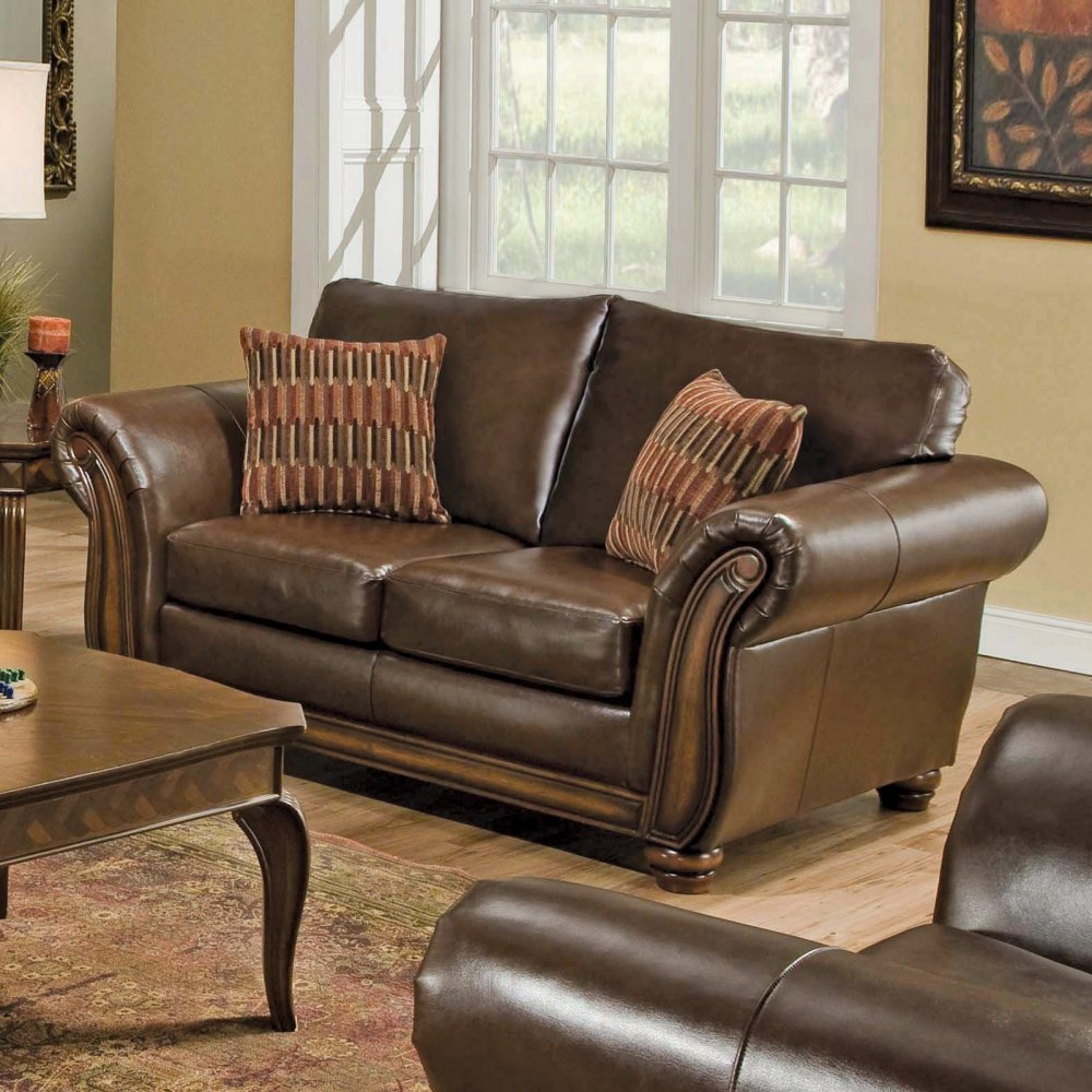 Simmons Vintage Solid Leather Upholstery Collection